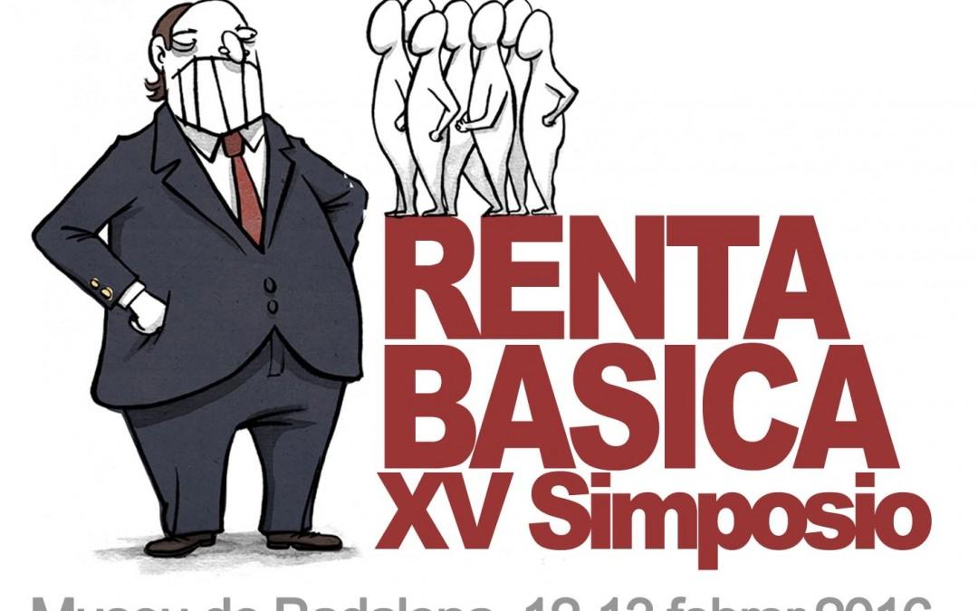 """XV Simposio de la Red Renta Básica: """"El derecho a la existencia en la revolución democrática: la renta básica a debate"""" (12-13 febrero)"""