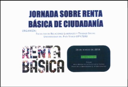 Vídeos de la Jornada sobre RB en la Facultad de Relaciones Laborales y Trabajo Social – UPV/EHU