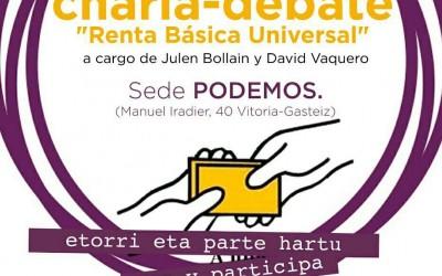 Charla-debate sobre RBU. Podemos Vitoria-Gasteiz
