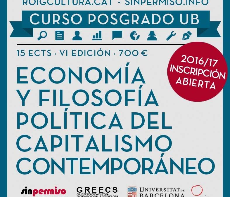 Curso de Posgrado: Análisis económico y filosófico-político del capitalismo contemporáneo