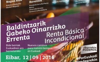 Acto en Eibar de Elkarrekin Podemos sobre la RB incondicional