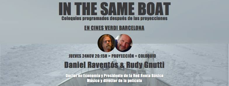 Daniel Raventós en el coloquio de In The Same Boat