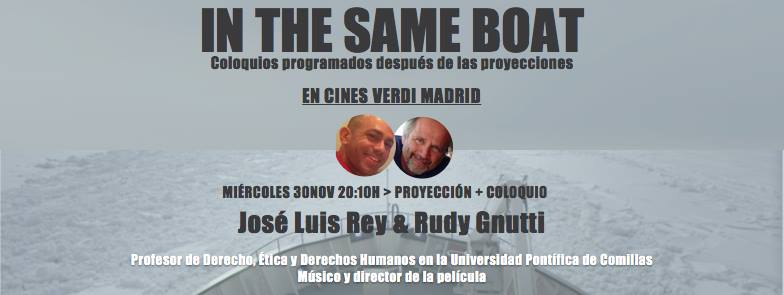 José Luis Rey en el coloquio de In The Same Boat