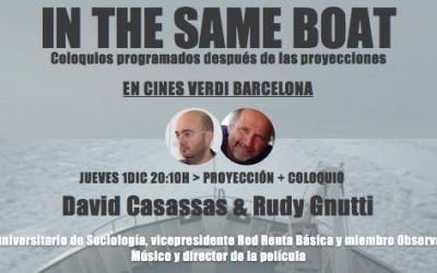 David Casassas en el coloquio de In The Same Boat