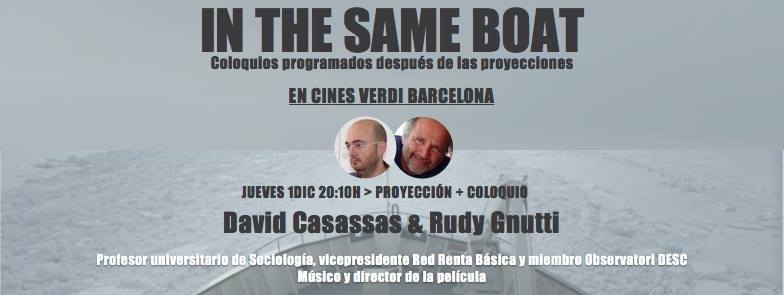 David Casassas en el coloquio de In The Same Boat