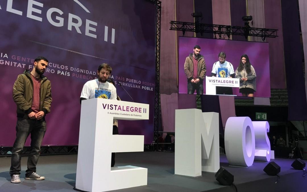 Presentación de la propuesta más votada en Vistalegre II (Podemos): la renta básica incondicional