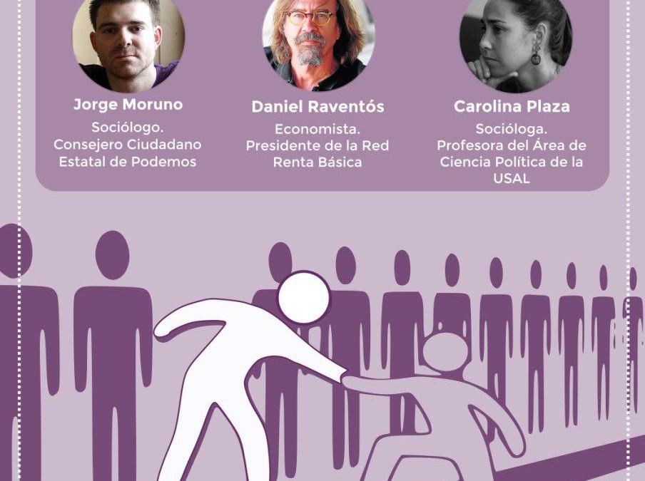 La renta básica incondicional. Jorge Moruno, Carolina Plaza y Daniel Raventós en la Universidad de Salamanca