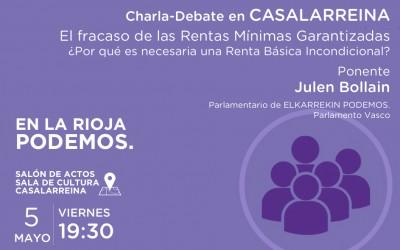El fracaso de las Rentas Mínimas Garantizadas y la necesidad de una Renta Básica Incondicional. Charla debate con Julen Bollain en La Rioja