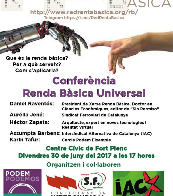 Podem, Intersindical Alternativa de Catalunya y Confederación Intersindical organizan un encuentro sobre la Renta Básica