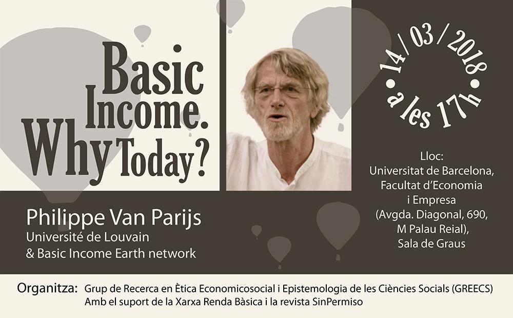 Van Parijs: ¿Per què la renda bàsica avui?