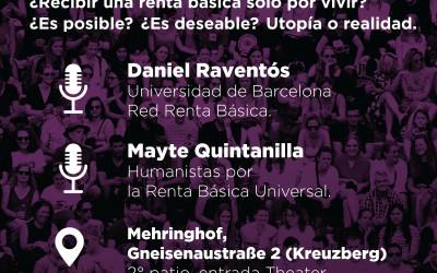 Jornada en Berlín sobre la Renta Básica organizada por Podemos
