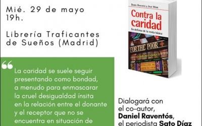 """Sato Díaz y Daniel Raventós presentan el libro """"Contra la Caridad"""" en Madrid"""